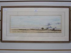 """Jeremy Hammick (b.1956) Watercolour """"Kenya"""", labelled verso, 17.5cm x 51cm"""