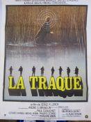 "Quantity of film posters, unframed ""La Traque"" 78cm x 60cm, ""Le Temoin a Abattre"" 116cm x 160cm, """