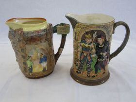 Royal Doulton 'The Fat Boy from Pickwick Papers and Poor Joe from Bleak House' jug, D6394, 19cm
