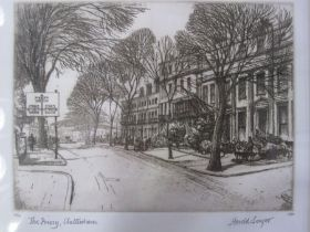 """Harold Sayer (1930-1993) Etching """"The Priory, Cheltenham"""", limited edition, dated 1950, signed in"""