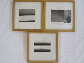 """Peter Lyons Pen and ink """"Cadences (in four parts)"""", parts 2 and 3, labelled verso and dated 1997"""