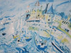 Ian Weatherhead (b.1932) Limited edition print Harbour scene, no.89/300, signed in pencil lower