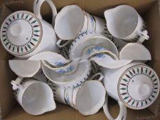 Royal Albert 'Forget Me Not' pattern part china tea service and a Royal Grafton fine bone china part