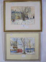 """Brenda Warren Watercolour """"Montpellier, Cheltenham"""", signed lower left, 16.5cm x 24.5cm E"""