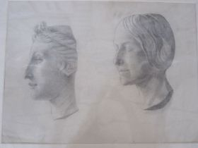 Frances Mary Towers (active 1914-1918) (early 20th century school) Pencil and charcoal Various