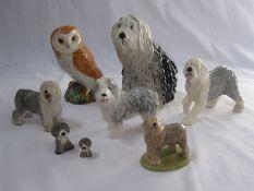 Wade English sheepdog, Royal Doulton model sheepdog, Sylvac model sheepdog, other model dogs and