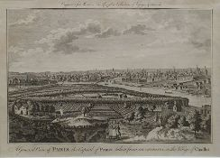 Two 18th century engraved views of Paris, one engraved from Moore's New and Complete Collection of