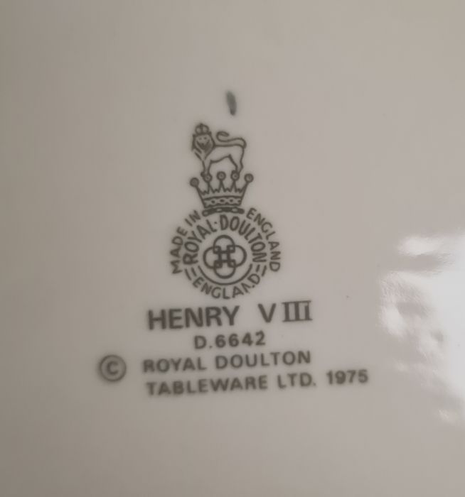 Set of seven Royal Doulton character jugsdepicting Henry VIII and his six wives (7) Condition - Image 13 of 16