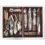 Quantity of stainless steel flatware(2 boxes)