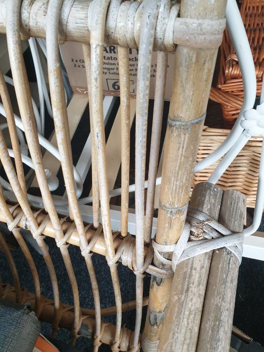 Two conservatory bamboo framed chairsCondition Report Wear and fading throughout. No obvious - Image 4 of 5