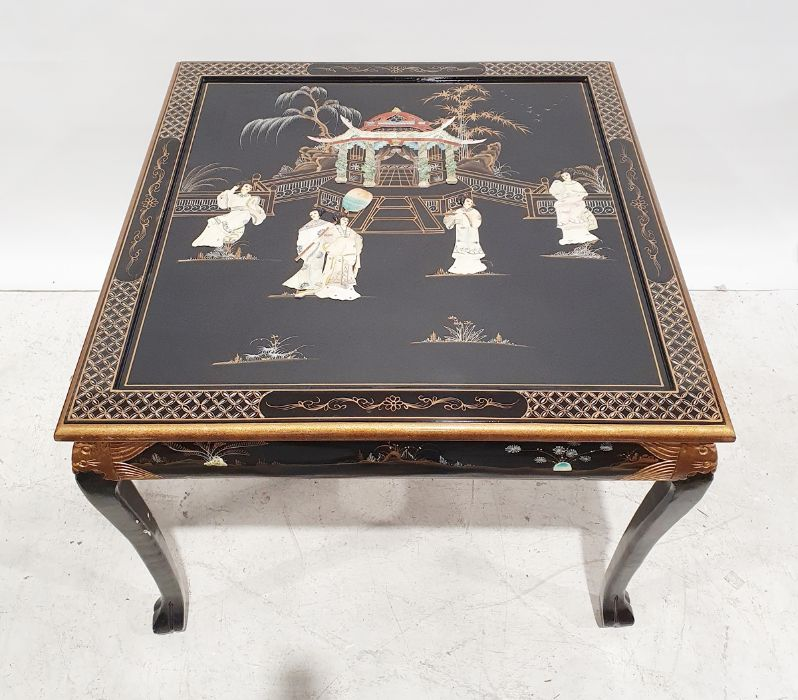 Chinese style dining table and four chairs(5) - Image 2 of 3