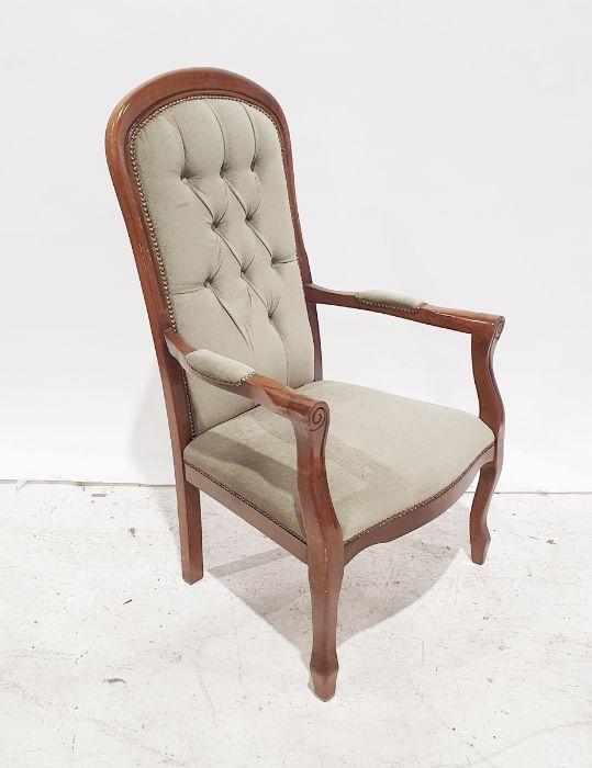 20th century armchair, green dralon upholstery