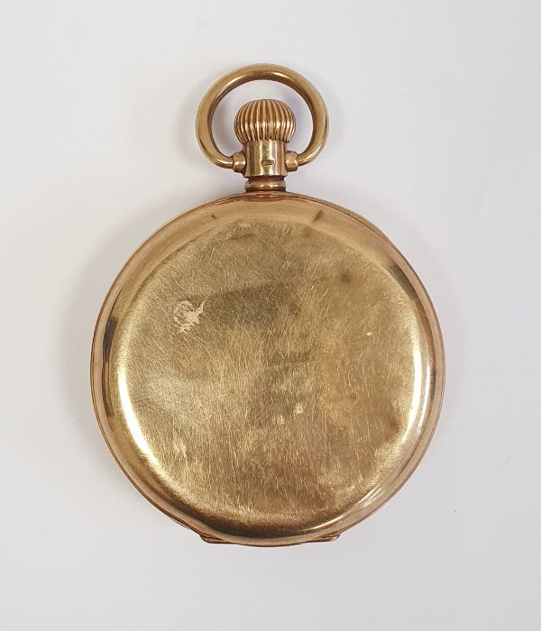 9ct gold Vertex open faced pocket watch, with subsidiary dial, inscribed to the inside ' Presented - Image 2 of 6