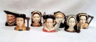 Set of seven Royal Doulton character jugsdepicting Henry VIII and his six wives (7) Condition