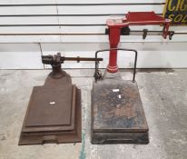 J Woolley Sons & Co Ltd, Manchester platform scales and another similar set of scales (2)