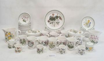 Large quantity of Portmeirion dinnerwarein the 'Botanic Garden' pattern, including two circular