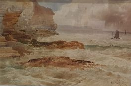 Charles Pigott (British 1863-1940) Watercolour Coastal scene, signed lower right, 23cm x 34cm