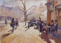 "Paul Weaver (20th century school) Watercolour ""Kingsmead Square, Bath"", signed lower left, 25cm x"