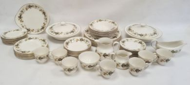 Quantity of Royal Doulton 'Larchmont' pattern tablewareincluding a pair of circular tureens and