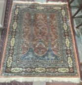 Modern Eastern-style Tree of Life decorated peach ground rug, the peach central field with central