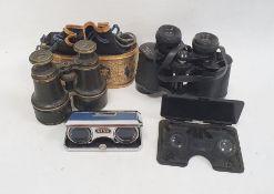 Pair of 8x30 binoculars, a pair of late 19th/early 20th century racing binocularswith leather