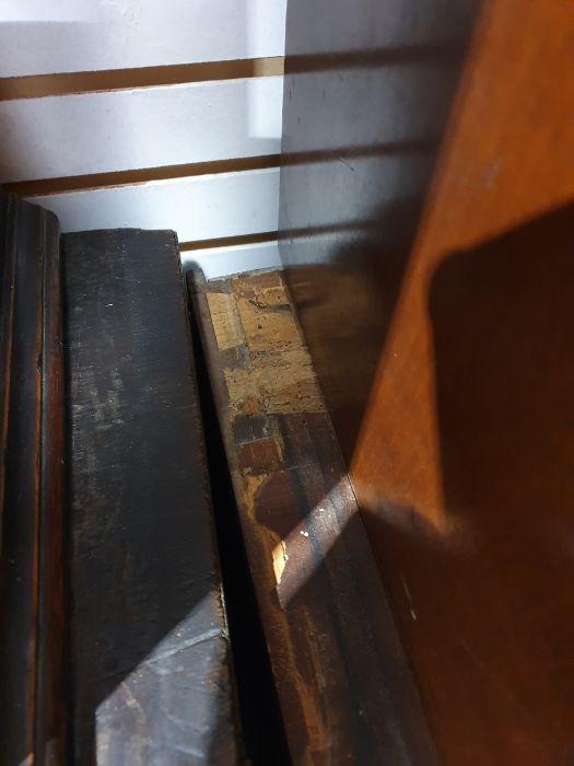 19th century mahogany linen press, two flame mahogany doors enclosing linen press drawers, base - Image 7 of 21