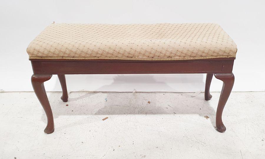20th century mahogany framed duet piano stool