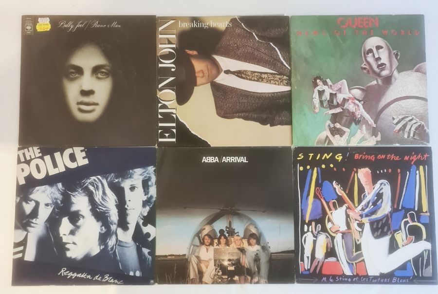 Collection of mainly 1980's vinyl LP's including The Police (4), Sting (1), Abba (5), Elton John (