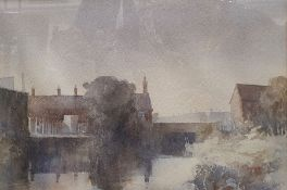 """Alfred Keene (20th century school) Watercolours """"Isle of Wight"""", signed lower right and 78,"""
