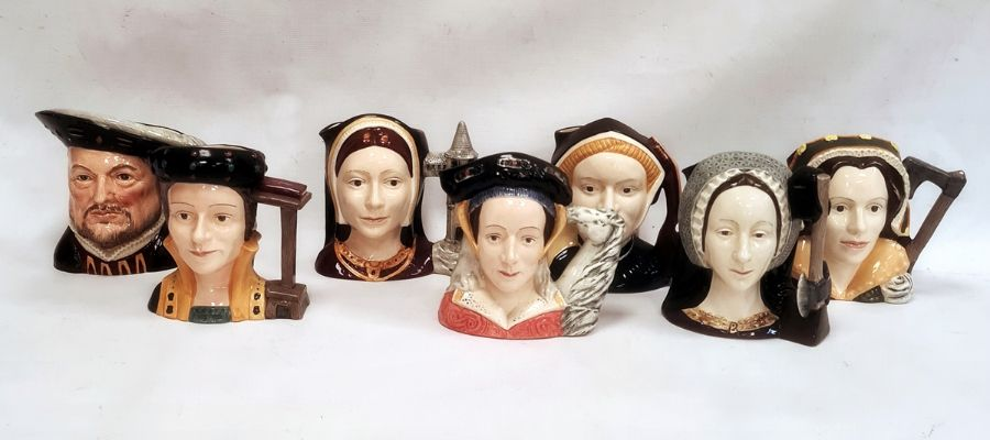 Set of seven Royal Doulton character jugsdepicting Henry VIII and his six wives (7) Condition - Image 6 of 16