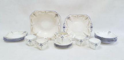 Shelley porcelain part breakfast set, floral decorated,comprising assorted bowls, saucers,