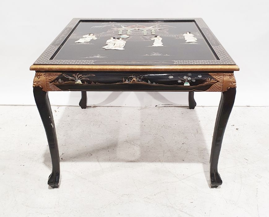 Chinese style dining table and four chairs(5)