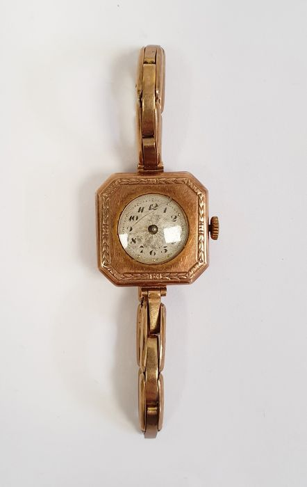 A lady's 9ct gold wristwatch, 15g approx. in total - Image 2 of 3