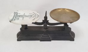 Set of vintage grocer's scales by Parnall & Sons