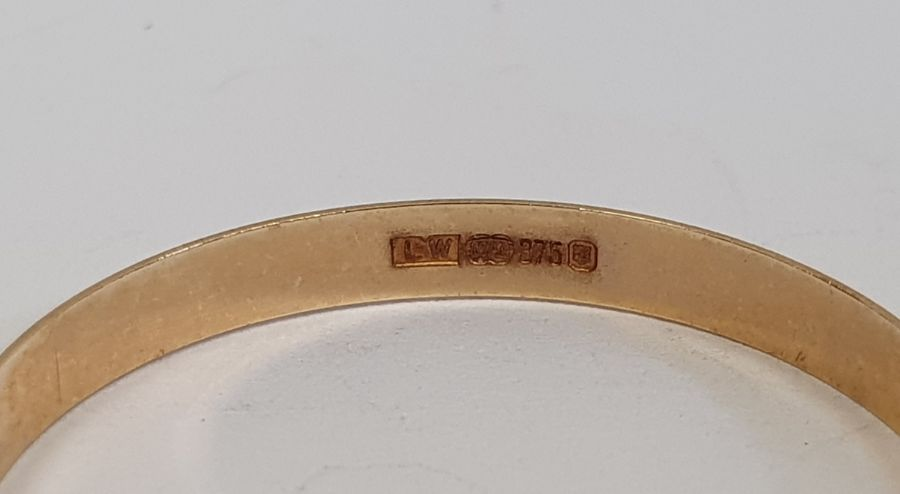 Two 9ct gold wedding rings, 5g approx. (2) - Image 3 of 3