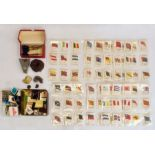 Quantity of Kensitas silk cigarette cardsin plastic envelopes, assorted souvenir matchboxesand
