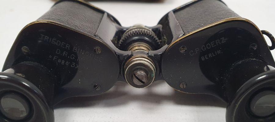 Assorted modern stud earrings, gold coloured cufflinks, binoculars, costume jewellery ( 1 box) - Image 3 of 3