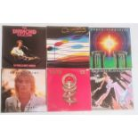 Approximately 100 vinyl records of various genres and artists including Rod Stewart, Cliff