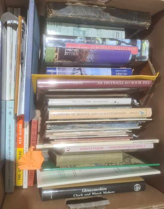 Assorted volumes to include topography, art, architecture, etc (6 boxes)