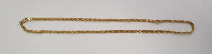9ct gold flat chain-link necklace, 3.5g approx.Condition Report Approx. Length 45.8cm