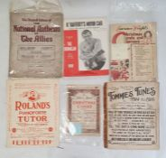 Suitcase and contents of sheet music including children's songs, musicals such as West Side Story,