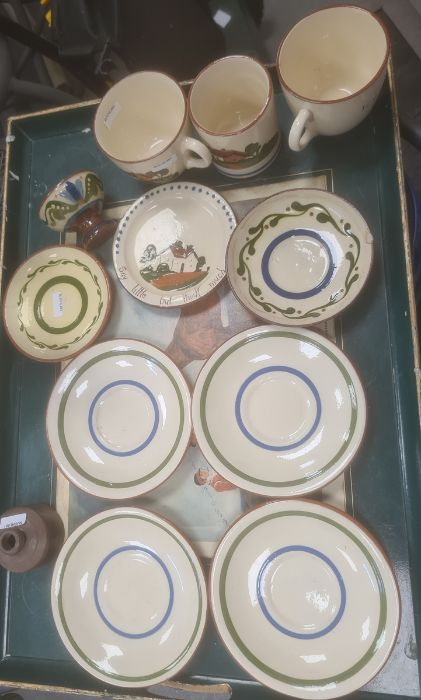Large quantity of Devon pottery motto wareincluding cups, jugs, teapot, etc and a quantity of other - Image 2 of 3