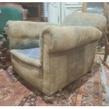 Early 20th century armchair,plaque marked to the reverse 'Berkeley upholstery H.J.Searle & Son Ltd'
