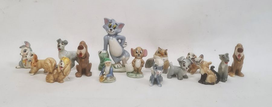 Quantity of Wade and other pottery models including Disney, Loony Tunes, etc (one box)