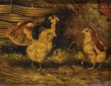 19th century school Oil on canvas Three puppies, unsigned, 29.5cm x 45cm 19th century school Oil on