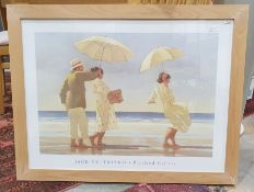 After Jack Vettriano Portland Gallery poster / print figures on beach