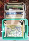 Two boxes of books including Giles annuals etc