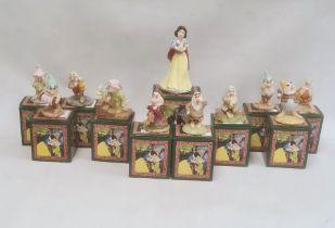 Royal Doulton (boxed) full set of Disney 'Snow White and the Seven Dwarfs' figures (SW10-SW16), plus