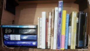 Quantity of books on collecting, fine arts, books, paintings, etc (2 boxes)