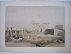 Roberts, David (1796-1864) Lithographon India paperwith original handcolouring for the Royal